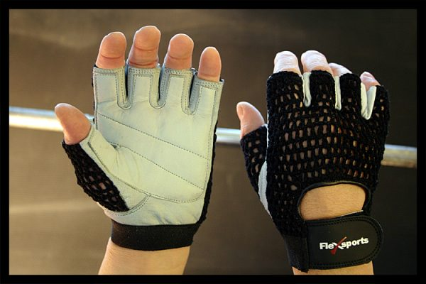 Black and White Pro-Mesh Gloves