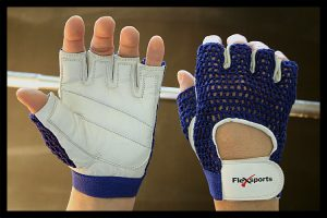 Blue and White Pro-Mesh Gloves