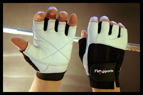 Black and White Pro-Spandex Gloves