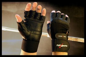 Black Power Wrist Wrap Gloves