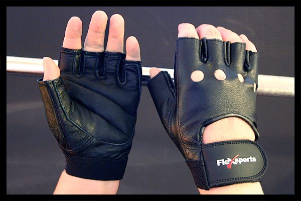 Black Pro-Leather Gloves